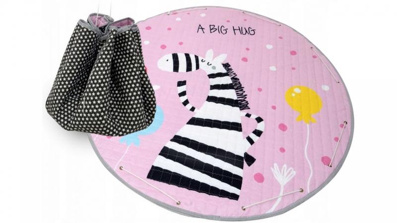 Hrací deka - koš na hračky 150 cm - Zebra