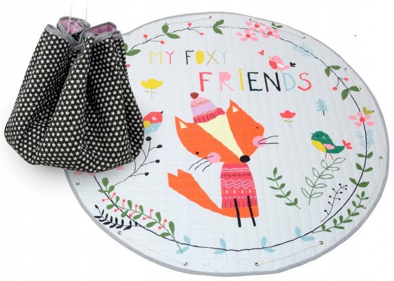 Tutumi Hrací deka - koš na hračky 150 cm - Fox