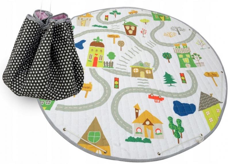Hrací deka - koš na hračky 150 cm - City
