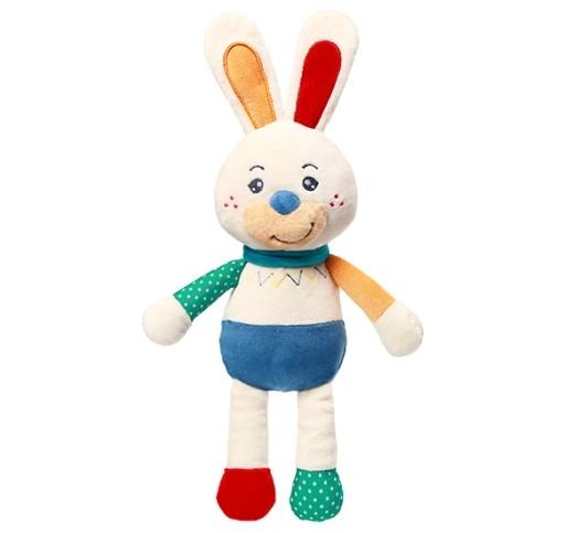 Plyšová hračka s chrastítkem Zajíček Jerry