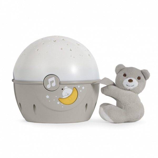 Chicco Projektor s melodií Next 2 Stars - Medvídek béžový