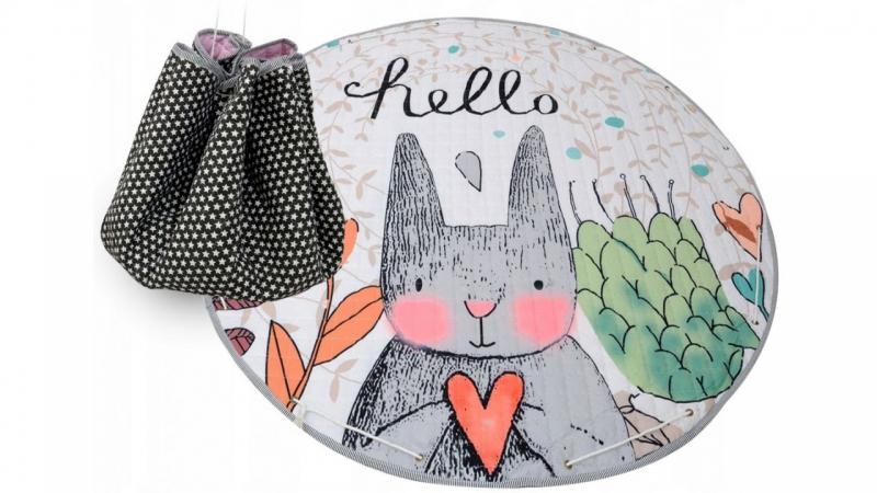 Hrací deka - koš na hračky 150 cm - Rabbit