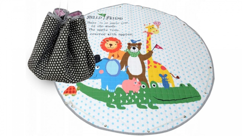Tutumi Hrací deka - koš na hračky 150 cm - Animals