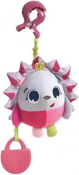 Závěsná hračka s kousátkem Ježek - růžová