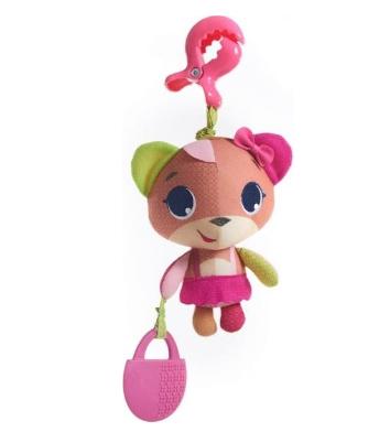 TINY LOVE Závěsná hračka s kousátkem Medvídek, 17cm - růžová