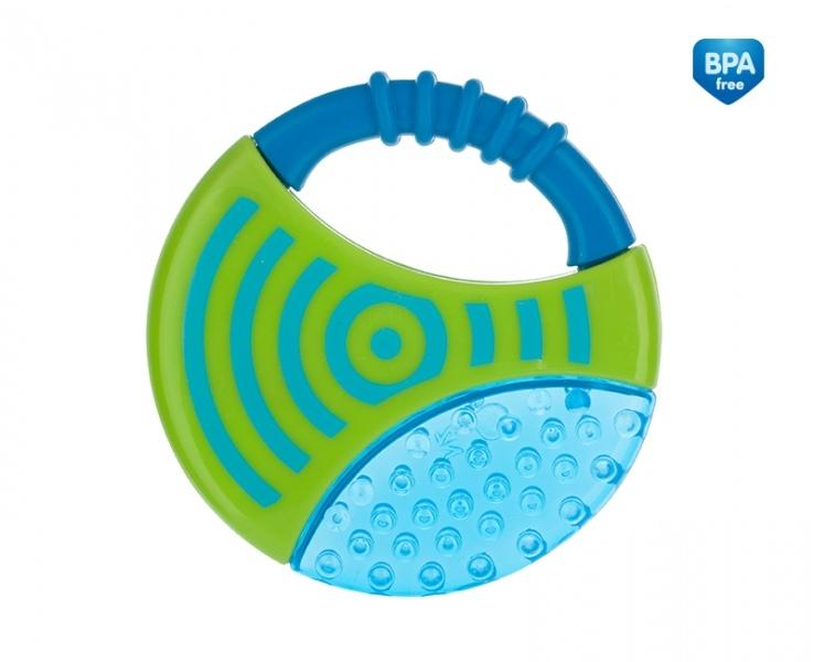 Kousátko vodní s chrastítkem - Kolečko - modré