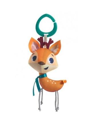 Tiny Love Závěsná hračka s chrastítkem, 15cm - Srnka