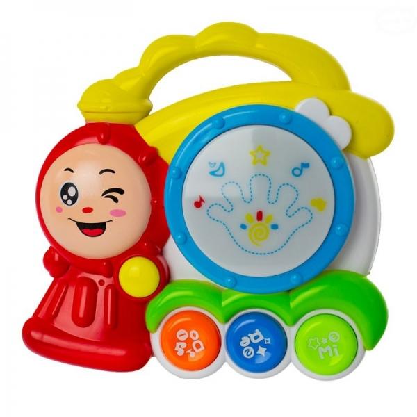 Euro Baby Interaktivní hračka s melodií bubínek - Vláček