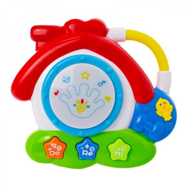 Euro Baby Interaktivní hračka s melodií bubínek - Domeček