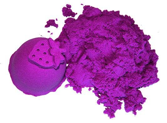 Kinetický písek - fialový - 2kg + formičky zdarma