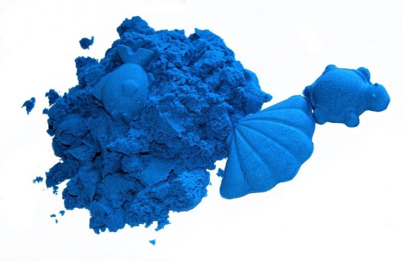 NaturSand Kinetický písek - modrý - 2kg + formičky zdarma