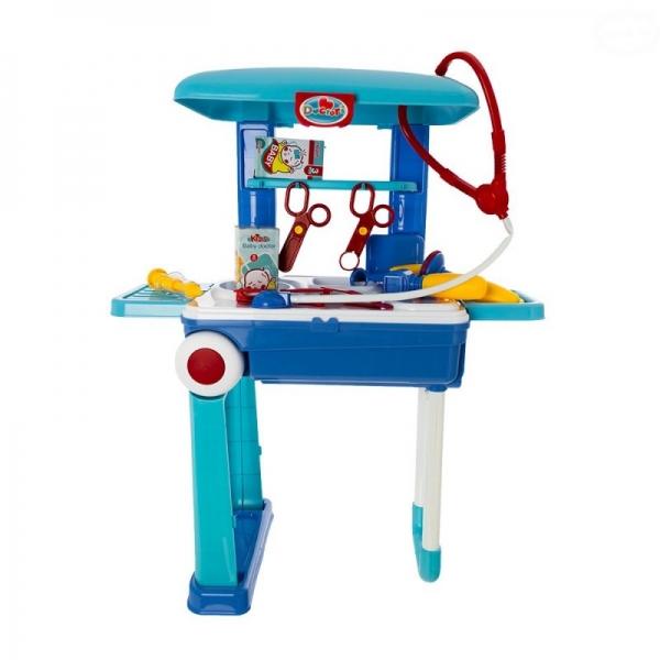 Euro Baby Dětský lékařský set v pojízdném kufříku