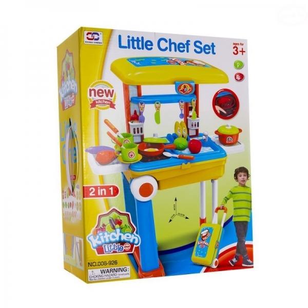 Euro Baby Dětská kuchyňka v pojízdném kufříku
