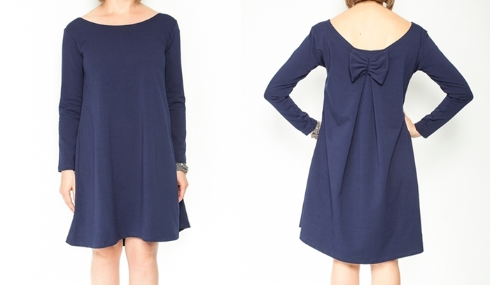 Be MaaMaa Elegantní těhotenské šaty, áčkový střih, dlouhý rukáv - granátové, vel. L