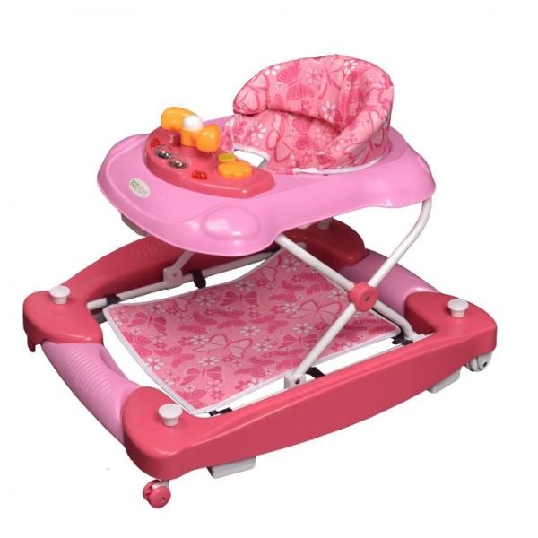 Eco toys Chodítko s houpačkou - růžové