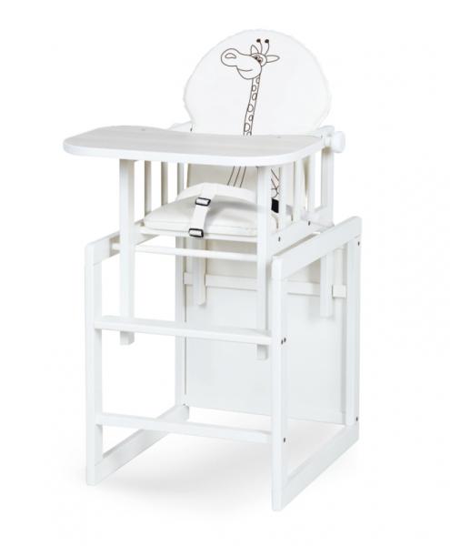 Jídelní stoleček Safari Anežka III., bílá