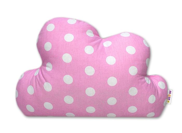 Mráček - dekorační polštářek - Bubble růžový