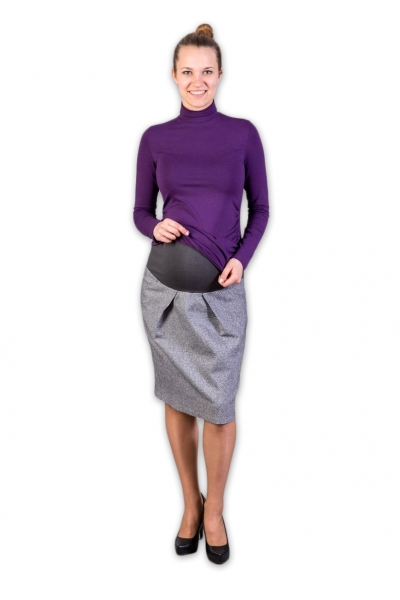 Gregx Těhotenská vlněná sukně Daura, vel. XXXL