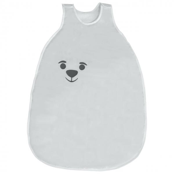 Baby Nellys Bavlněný spací vak Medvídek - šedý