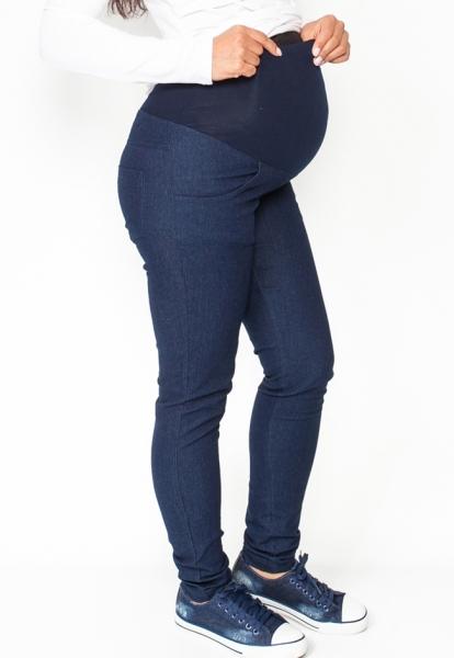 Be MaaMaa Těhotenské kalhoty/jeans Rosa - granátové, vel. S