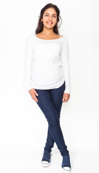 Be MaaMaa Těhotenské kalhoty/jeans Rosa - granátové, vel. L