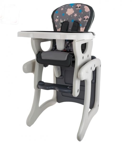 Euro Baby Jídelní stoleček 2v1 - Veverka v šedé, K19