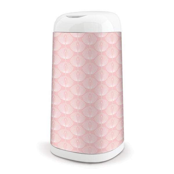 ANGELCARE Koš na použité plenky Dress Up + 1 vložka do koše - růžový