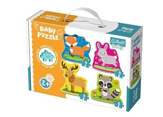 Baby Puzzle 4 v 1 - Zvířátka v lese