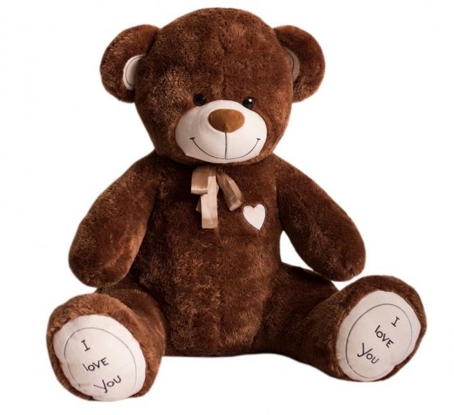 Baby Nellys Plyšový medvěd Bruno, 160cm - hnědý