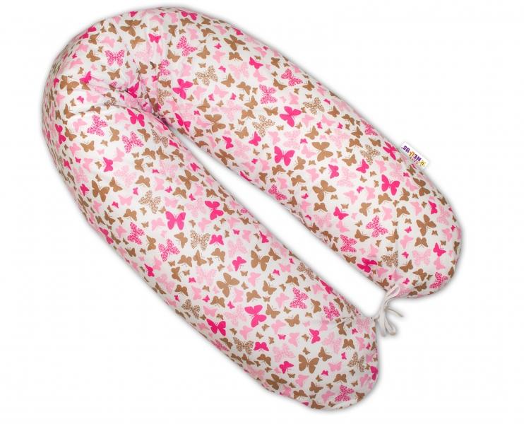 Baby Nellys Kojící polštář - relaxační poduška - Motýlci růžoví