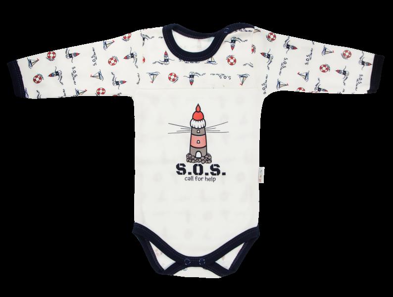 mamatti-kojenecke-body-majak-dlouhy-rukav-bile-granatovy-lem-vel-86-86-12-18m