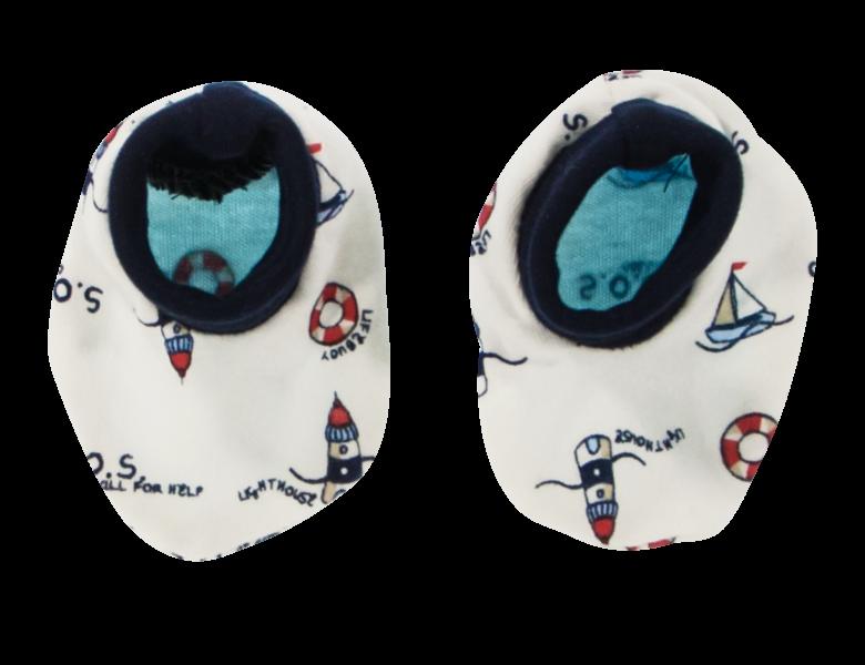 Kojenecké botičky/ponožtičky Maják, bílé