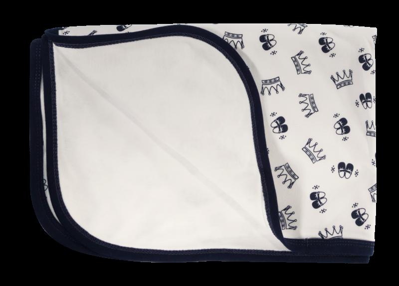 Dětská deka, dečka Princezna,  80x90 - bavlna, granát