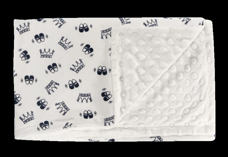 Dětská deka, dečka Princezna, 75x90 - Minky/bavlna, granát