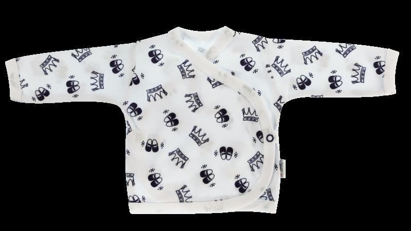 Novorozenecká košilka Princezna - zapínání bokem, granátová, vel. 62