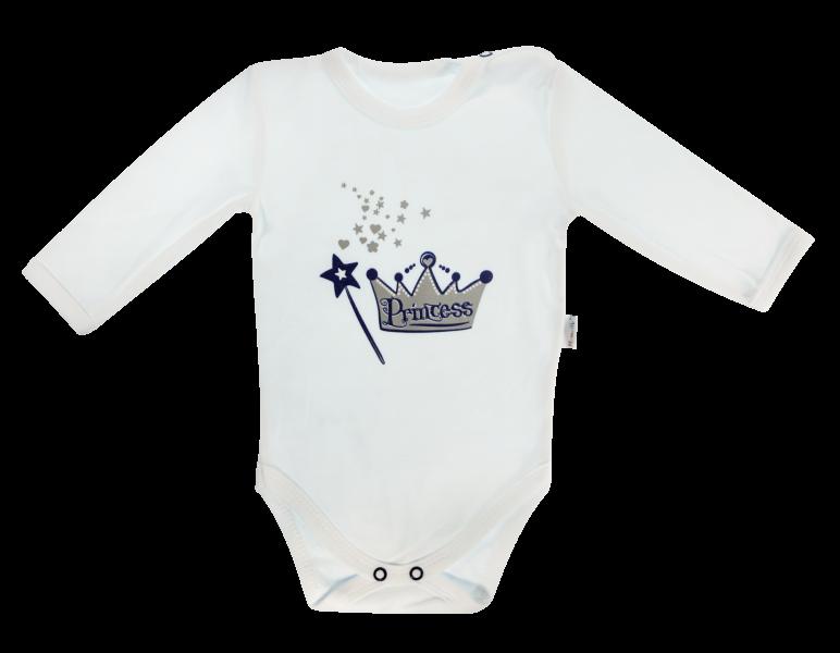 Mamatti Kojenecké body Princezna - dlouhý rukáv, bílé, vel. 74