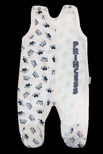 Kojenecké bavlněné dupačky Princezna, granátové korunky, vel. 62, Velikost: 62 (2-3m)