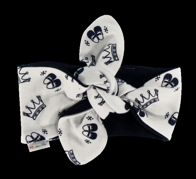 Šátek, čelenka Pin-up Princezna, granátové korunky