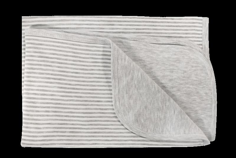 Dětská deka, dečka Gentleman,  80x90 - bavlna, šedá