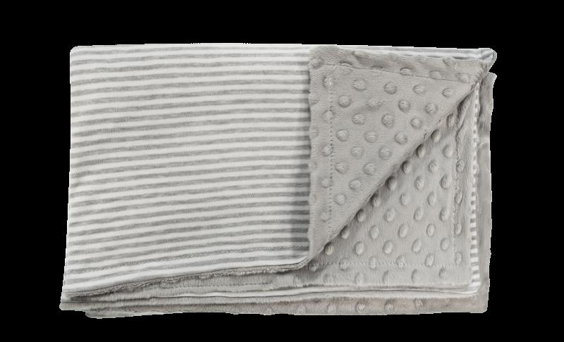Dětská deka, dečka Gentleman, 80x90 - Minky/bavlna, šedá