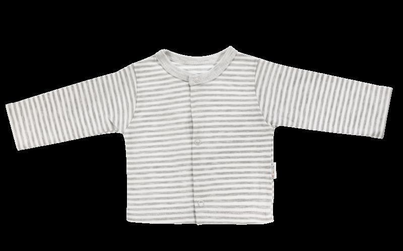 Bavlněná košilka Gentleman, šedá, vel. 74, Velikost: 74 (6-9m)