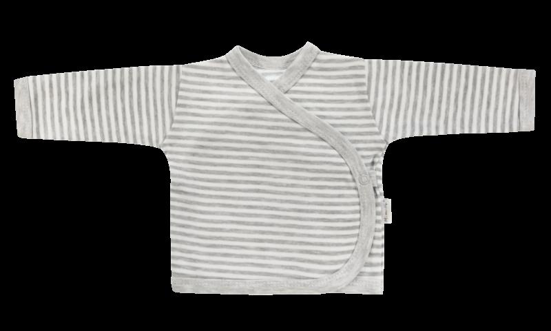 Mamatti Novorozenecká košilka Gentleman - zapínání bokem, šedá