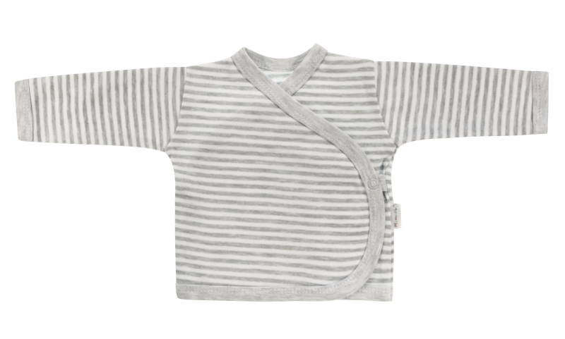 Mamatti Novorozenecká košilka Gentleman - zapínání bokem, šedá, vel. 62