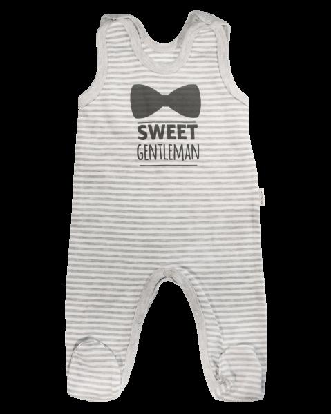 Kojenecké bavlněné dupačky Gentleman, šedé, vel. 62, Velikost: 62 (2-3m)