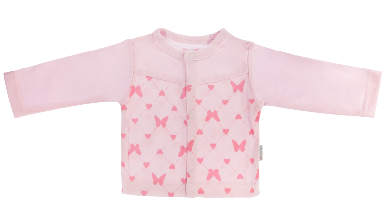 Mamatti Bavlněná košilka Motýlek srdíčko - růžová, vel. 62