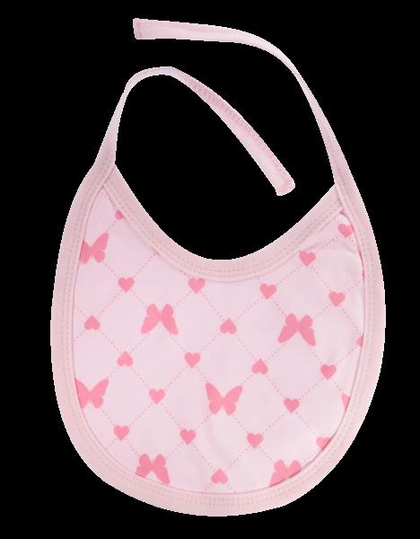 Bryndáček bavlna Motýlek srdíčko, růžový