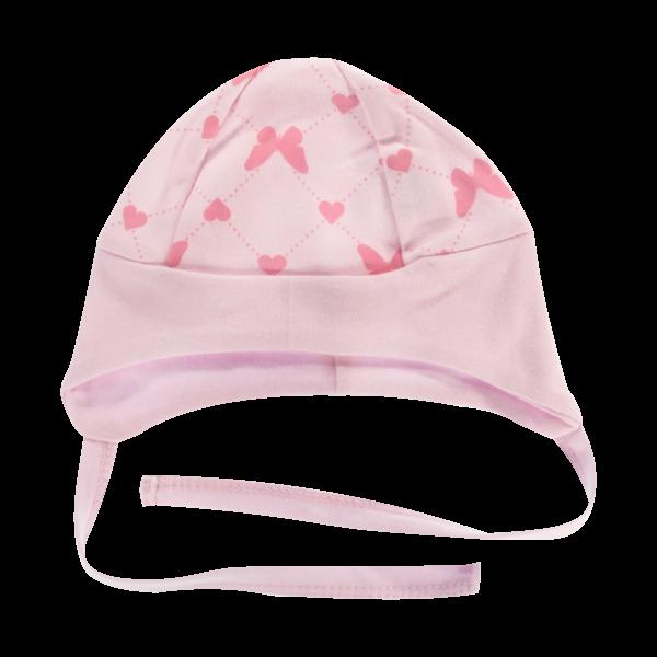 Čepička na zavazování Motýlek srdíčko, růžová, vel. 68