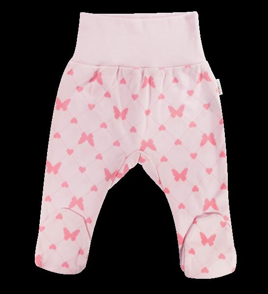 Polodupačky Motýlek srdíčko, růžové, vel. 68
