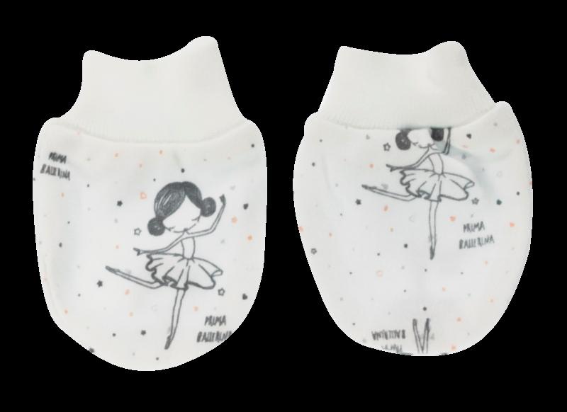 Mamatti Kojenecké rukavičky Baletka, bílé