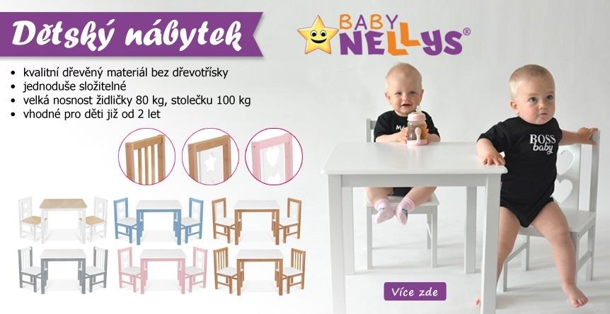 Kvalitní dřevěný nábytek české značky BABY NELLYS.
